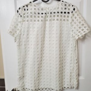 Lace broderie blouse